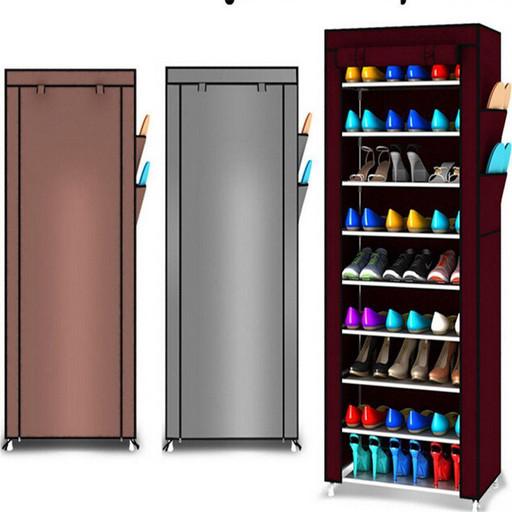Большая вместительная Полка для обуви с чехлом Shoe Cabinet 9 layer!Позволяет хранить до 18 пар обуви.!
