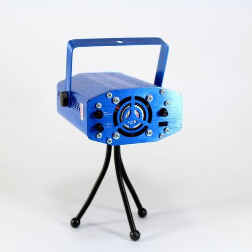Диско LASER YX09A HJ09 2 in 1, Лазерный проектор с акустическим контролем, Диско лазер, Лазер звездное небо