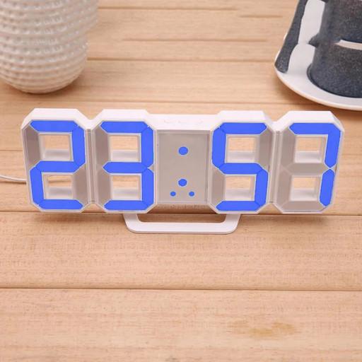 Электронные настольные LED часы с будильником и термометром Caixing CX-2218 Голубой! Топ продаж