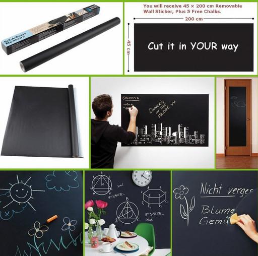 Доска-стикер для рисования мелом Black Board Sticker