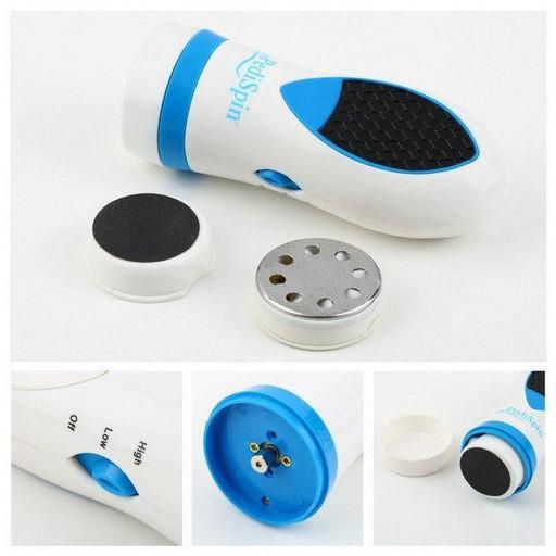 Педикюрный Набор Pedi Spin (Педи Спин), электрическая пемза для пяток, пенза для ног, фрезер для маникюра