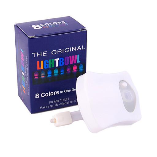 Автономная цветная Led подсветка для унитаза с датчиком движения и света TOILET Light Bowl
