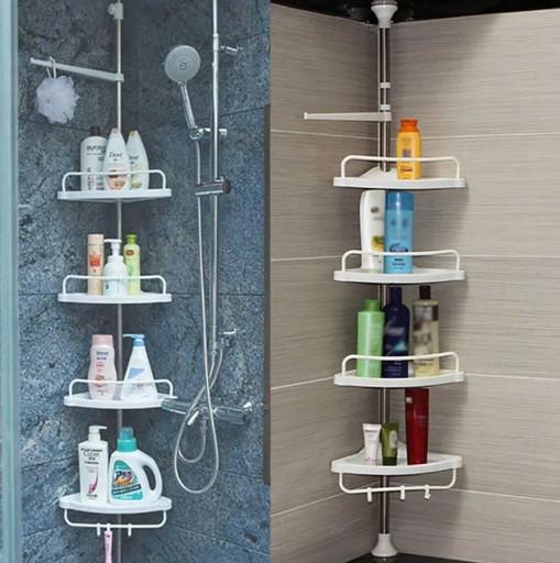 Угловая полка для ванной комнаты Multi Corner Shelf Стойка Стелаж, полки в ванну, ванные полки