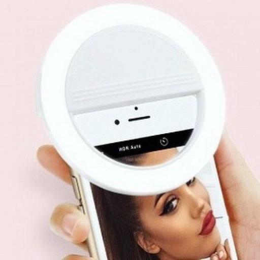 Селфи-кольцо для телефона с LED подсветкой Selfie Ring Light White