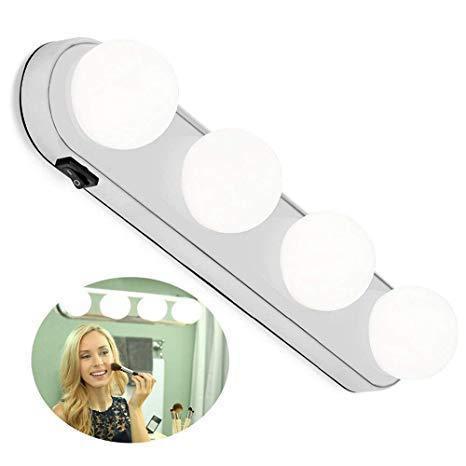 Подсветка на зеркало для макияжа, Studio Glow, 4 лампы, беспроводной светильник
