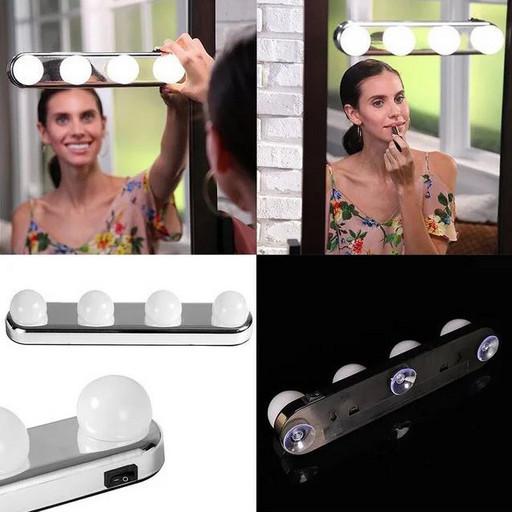Подсветка на зеркало для макияжа, Studio Glow, 4 лампы (509)