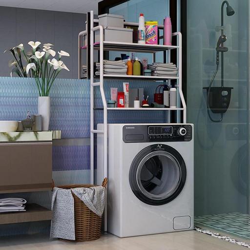 Стойка органайзер на стиральную машину - напольные полки для ванной комнаты