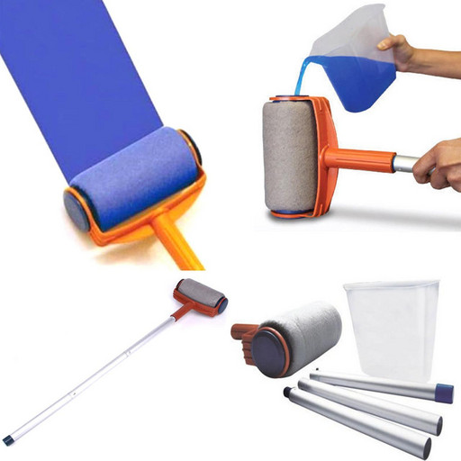 Валик с емкостью резервуаром для покраски стен и потолка Pintar Facil с телескопической палки