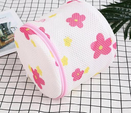 Мешок - контейнер для стирки нижнего белья, бюстгальтеров, круглый мешок