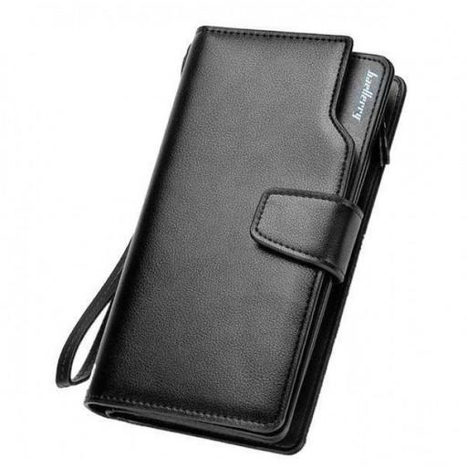 Мужской кошелек клатч портмоне барсетка Baellerry business S1063 Чёрный