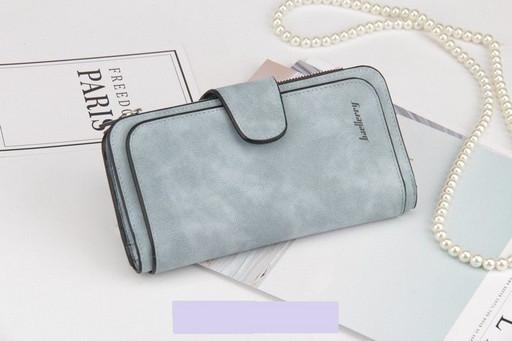 Женский замшевый клатч кошелек Baellerry Forever N2345 blue \ Jeans