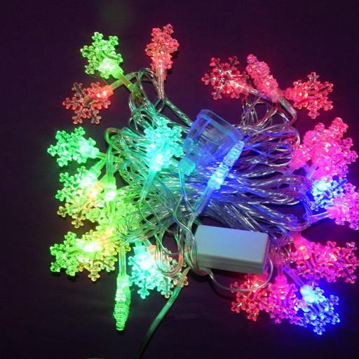 Гирлянда светодиодная снежинки LED 28 1-123 RGB (AN00060)