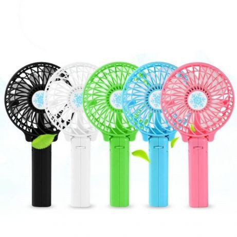 Мини вентилятор ручной mini fan, Портативный натольный вентилятор с аккумуляторной батареей, МинМини