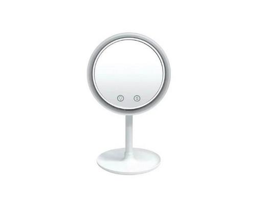 Настольное косметическое зеркало NuBrilliance Beauty Breeze Mirror с подсветкой и встроенным вентилятором