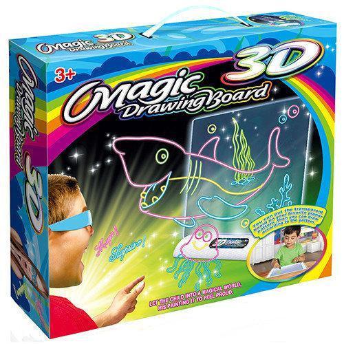 Магическая 3D доска для рисования Magic Drawing Board 3D   Планшет для рисования