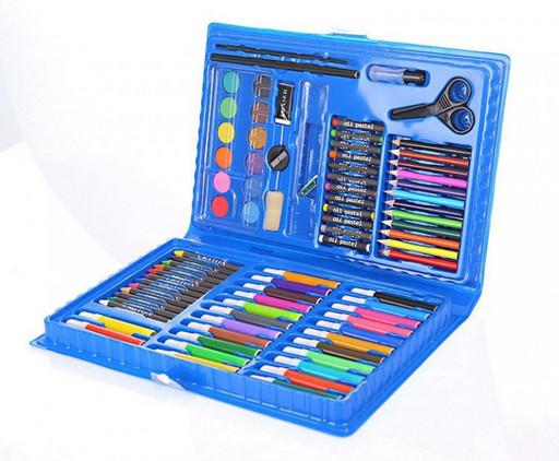 Набор для творчества Art set 86 предмета детский набор для рисования синий