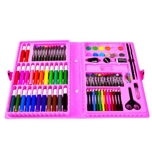 Набор для рисования и творчества в чемоданчике Princess Art Set 86 предметов Розовый (hub_YkzG69842)