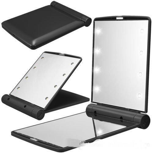 Раскладное косметическое зеркало Travel Mirror с LED подсветкой на 8 светодиодов