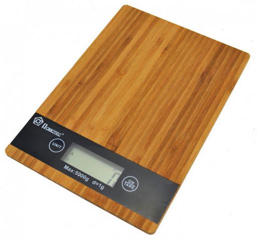 Кухонные электронные деревянные весы Domotec MS-A до 5кг