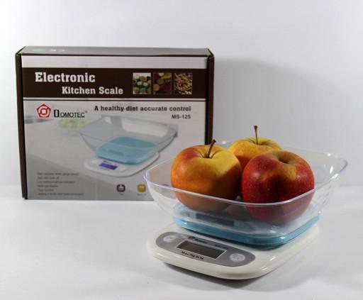 Весы электронные кухонные Domotec ACS SH-125 до 7кг с чашей