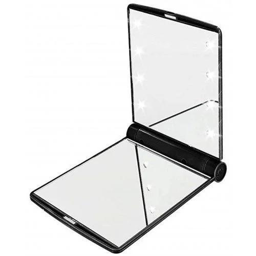 Зеркало мини карманное с подсветкой дорожное с 8 LED подсветкой