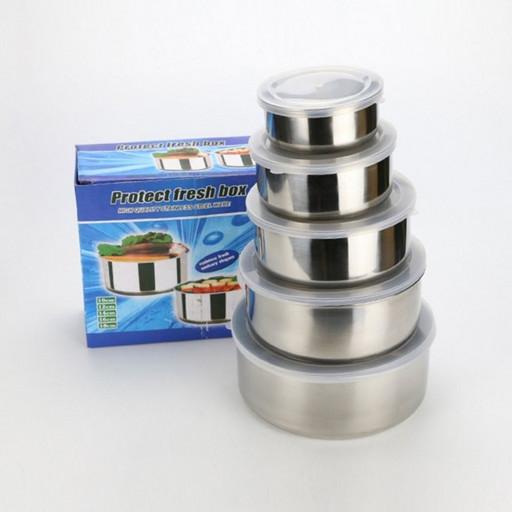 Набор металлических судочков для хранения пищевых продуктов FRICO Protect Fresh Box 5шт