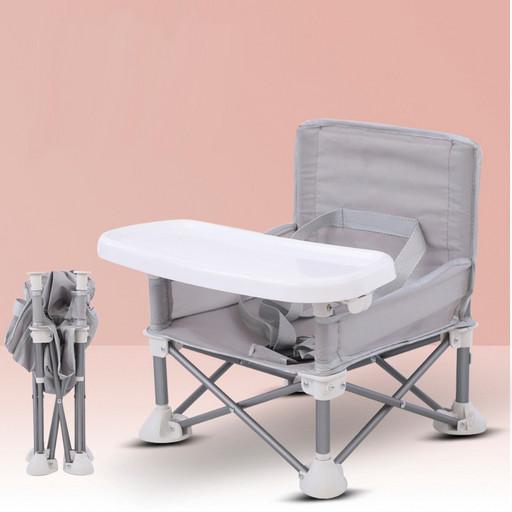 Детский складной стул для кормления Baby seat Pro, тканевый стул с алюминиевыми ножками