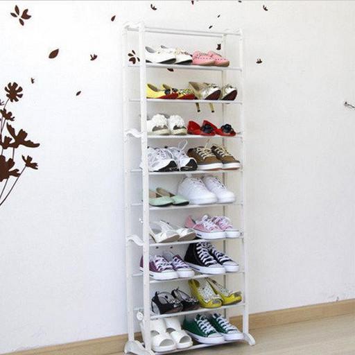 Полка на 30 пар обуви органайзер с 10 полками Amazing Shoe Rack