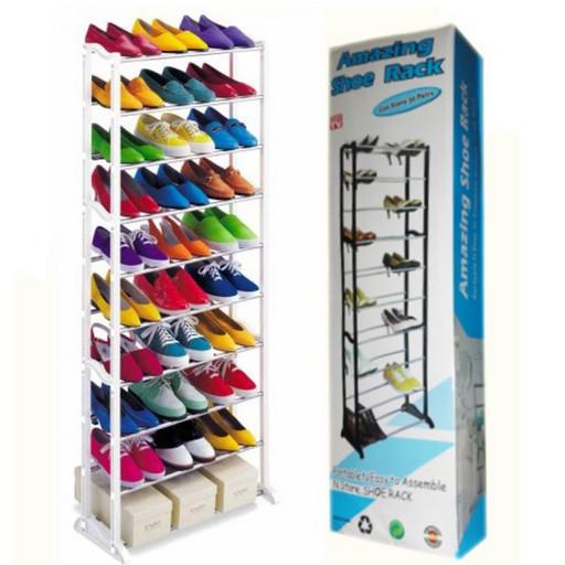 Полка для обуви Amazing Shoe Rack органайзер 10 полок на 30 пар