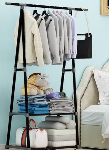 Универсальная прочная напольная передвижная стойка вешалка для одежды Coat Rack