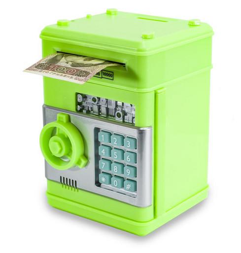 Электронная копилка сейф с кодовым замком и купюроприемником для бумажных денег и монет Number Bank