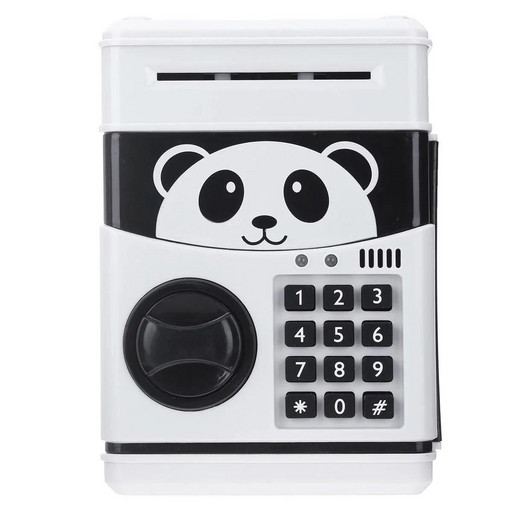 Электронный сейф-копилка с кодовым замком Panda Черно-белый (101041)