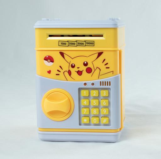 Детский сейф-копилка Cartoon saving box с кодовым замком pokemon