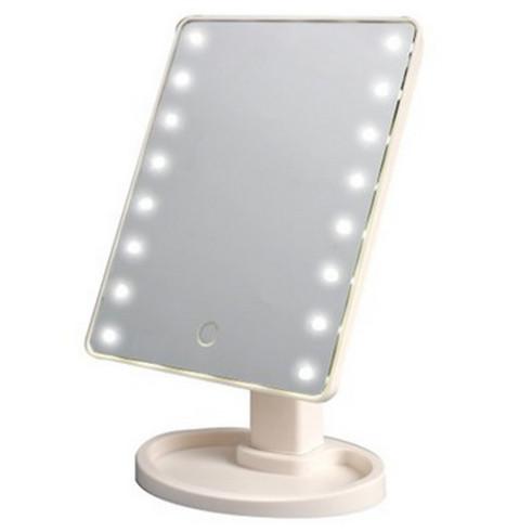 Настольное зеркало с LED для макияжа с подсветкой 16 светодиодов