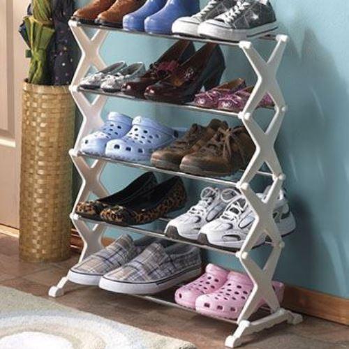 Стойка для хранения обуви shoe rack (5895), Модульный органайзер полка для обуви, Подставка для обуви