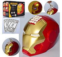 Игрушка, сейф с кодовым замком железный человек NUMBER BANK