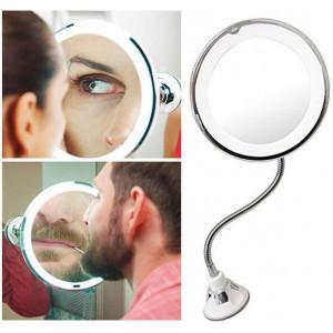 Гибкое зеркало на присоске с 5x увеличением и подсветкой Ultra flexible Mirror 5X