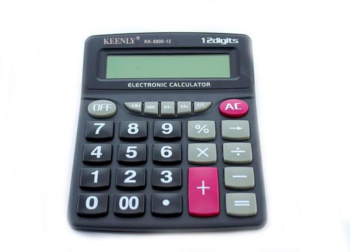 Калькулятор, KK-8800-12, калькулятор с процентами.Надежный, простой калькулятор  