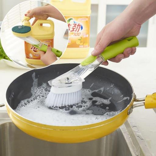 Щетка дозатор для мытья посуды