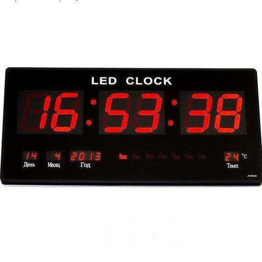 Настенные часы Led с подсветкой 3615 red, Электронные часы, будильник, настольные часы