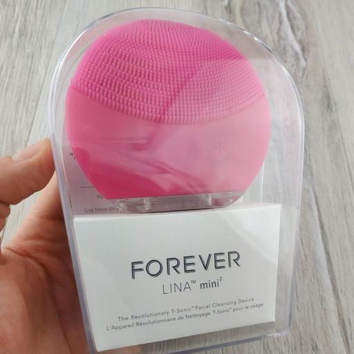 Силиконовая виброщеточка электрическая Forever Lina Mini 2 массажер для лица розовая