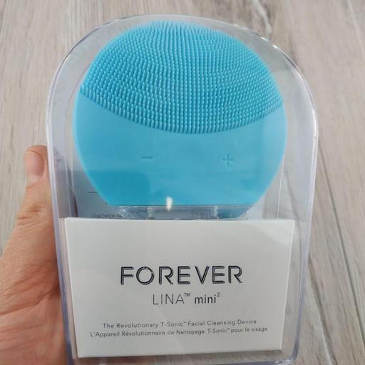 Силиконовая виброщеточка электрическая Forever Lina Mini 2 массажер для лица бирюзовый