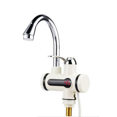 Проточный водонагреватель электрический на кран Delimano с LCD дисплеем и душем, бойлер Делимано с экраном