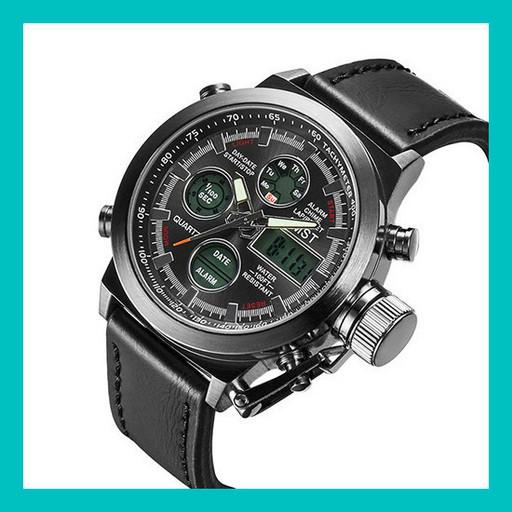 Ручные часы AMST Watch (черные, коричневые)!Опт