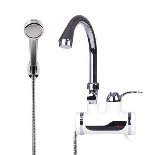 Проточный водонагреватель Delimano с LCD экраном и душем (100181)