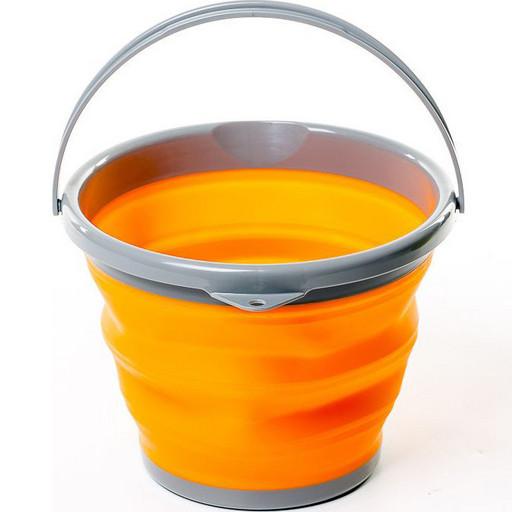 Ведро складное силиконовое Tramp 10л оранжевое TRC-091-orange
