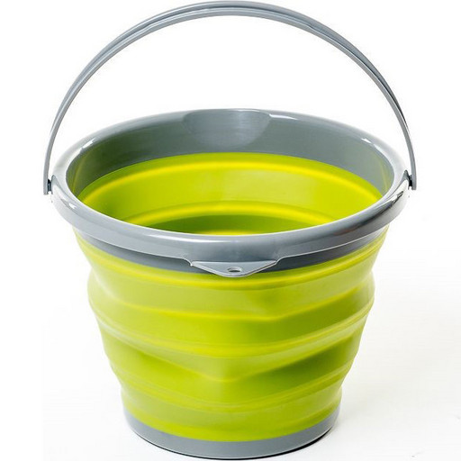Ведро складное силиконовое Tramp 10л оливковое TRC-091-olive