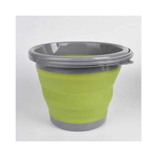 Ведро складное силиконовое 10 л Оливковый Tramp TRC-091-olive