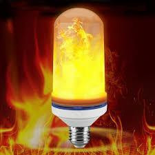 Лампа LED Flame Bulb А+ с эффектом пламени огня, E27