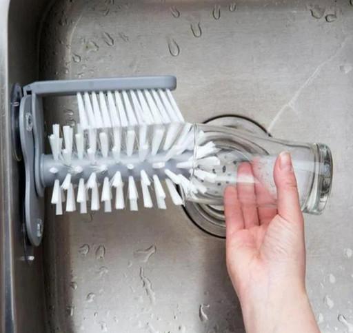 Щётка для мытья стаканов и бутылок Multi-Function Suction Cup Brush, стеклоотмыватель